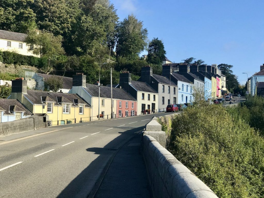 Colourful houses in Llandeilo