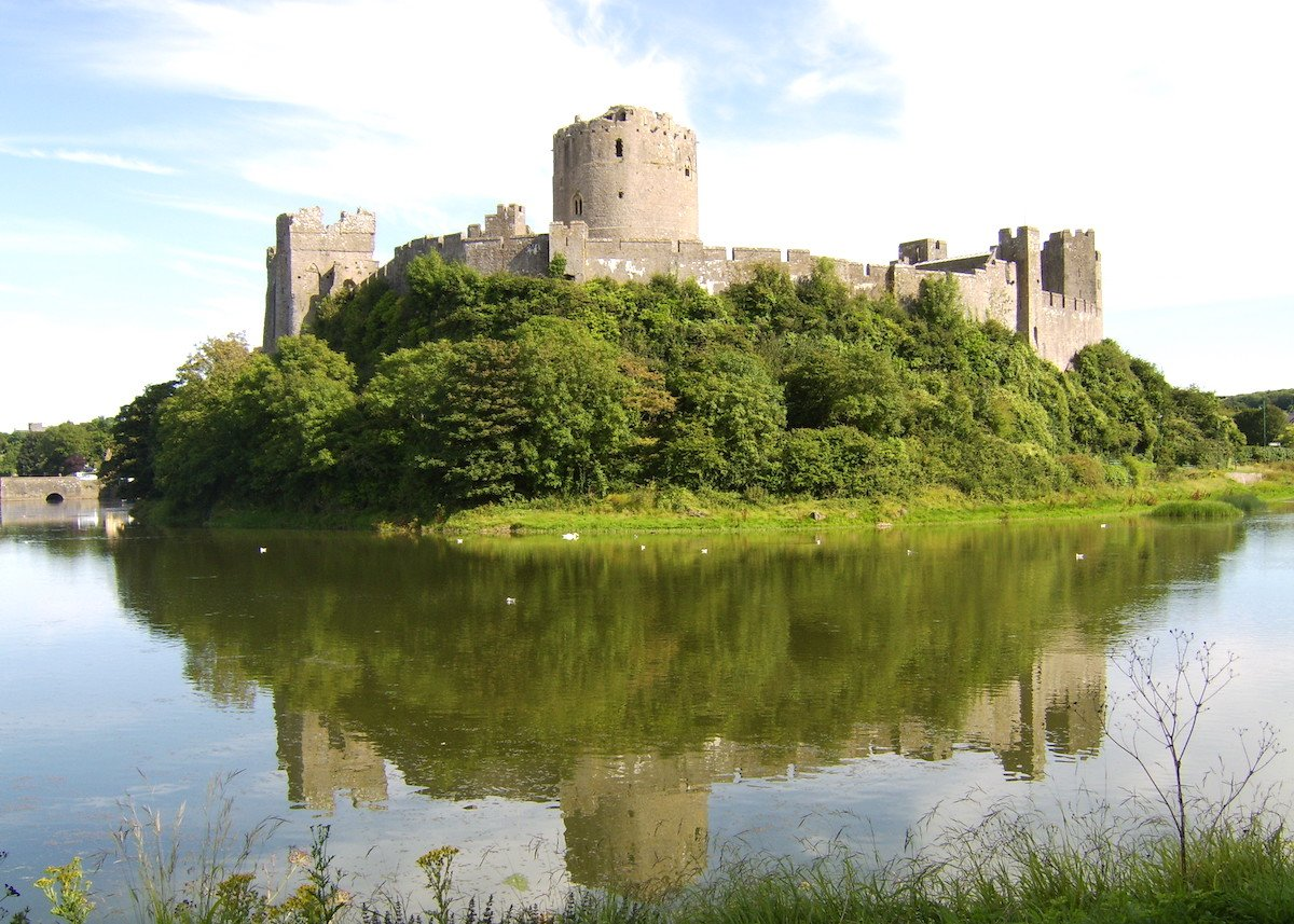 Pembroke Castle and estuary