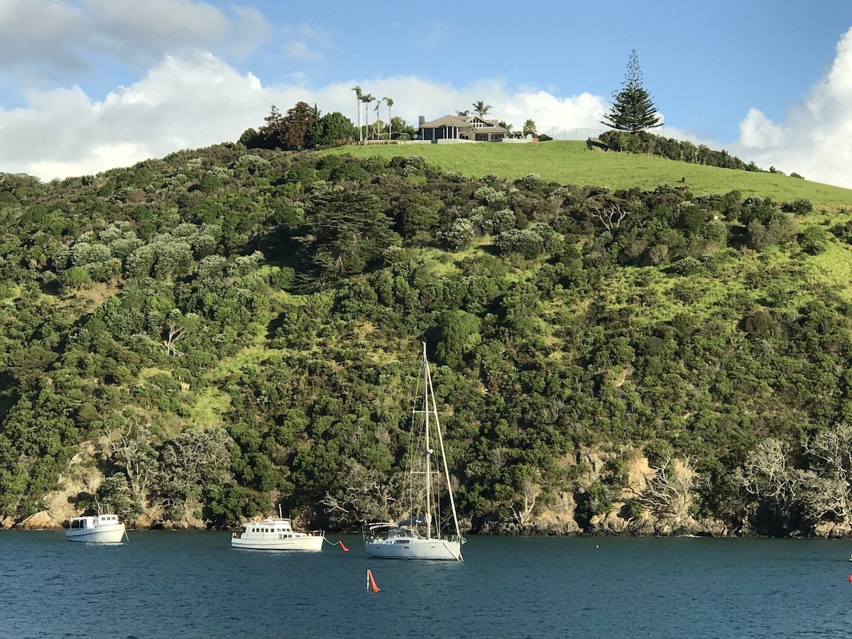 View of Waiheke Island from the ferry