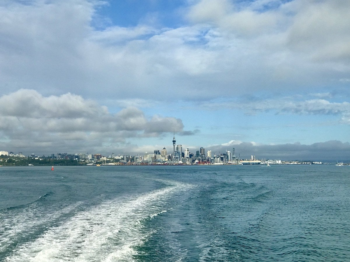 Auckland viewed from the Waiheke ferry