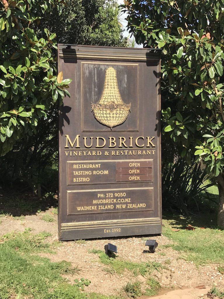 Mudbrick wooden sign