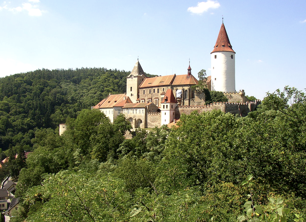 Krivolat fairytale castle on a hilltop