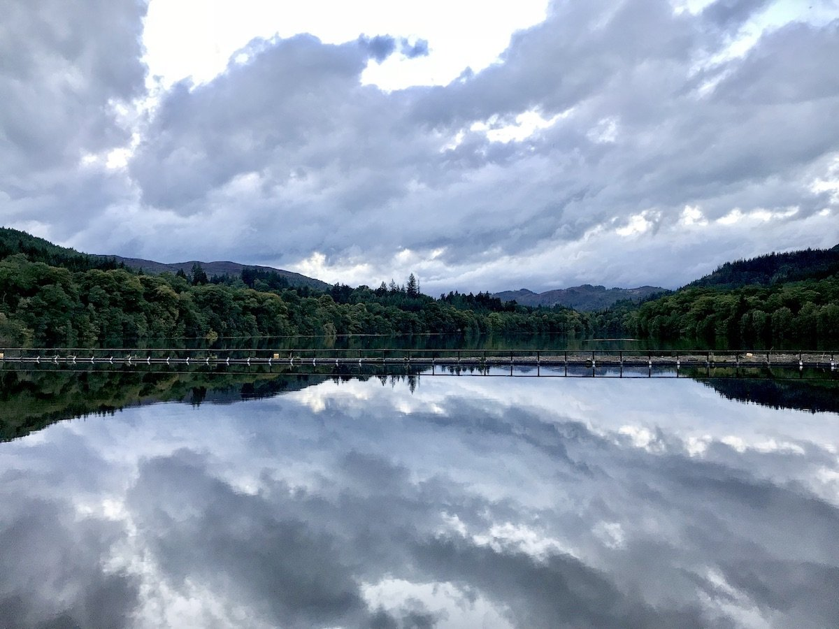 Clouds reflecting off the River Tummel