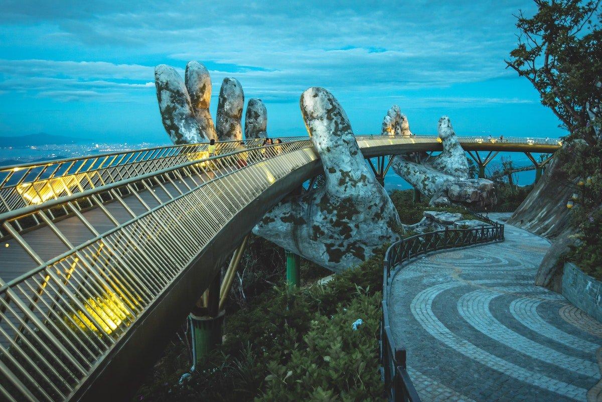 Photo of Golden Hands Bridge in Danang