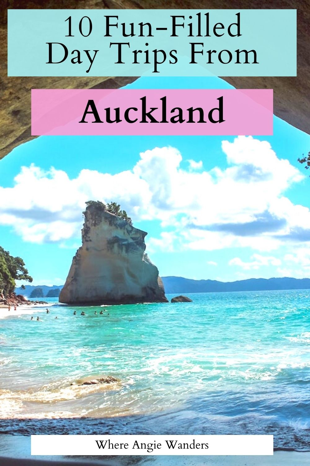 Pinterest Graphic of Cathedral Cove