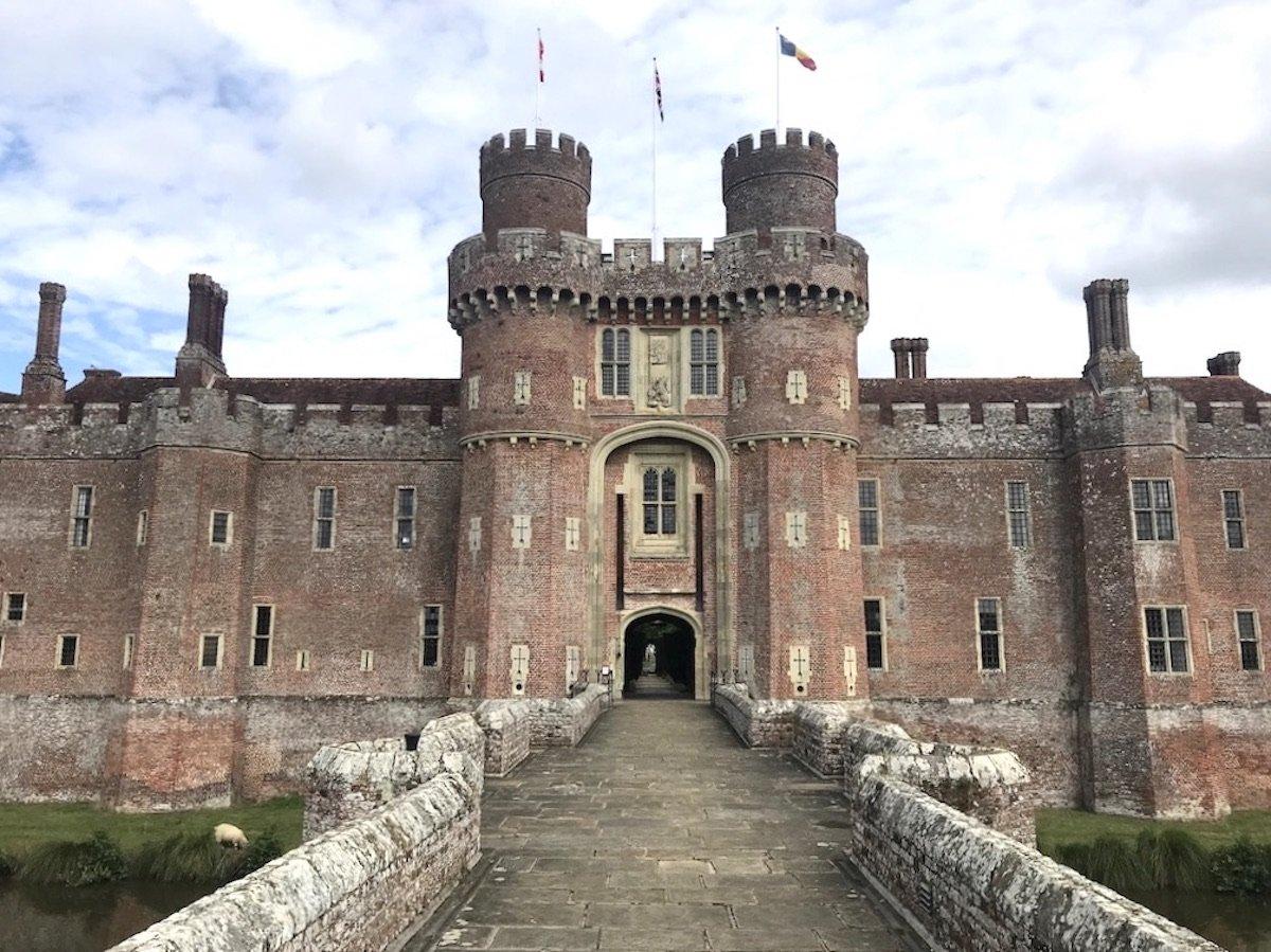 stone bridge leading to the castle entrance