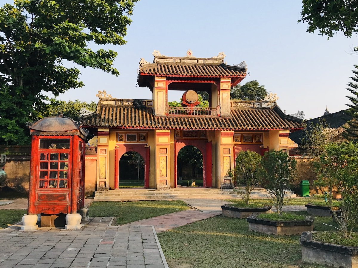Red and Yellow Temple in the Imperial City of Hue