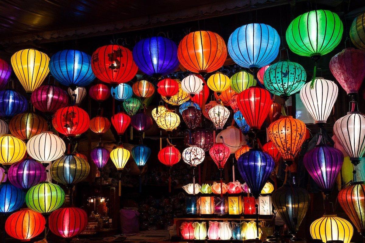 Silk Lantern Stall in Hoi An
