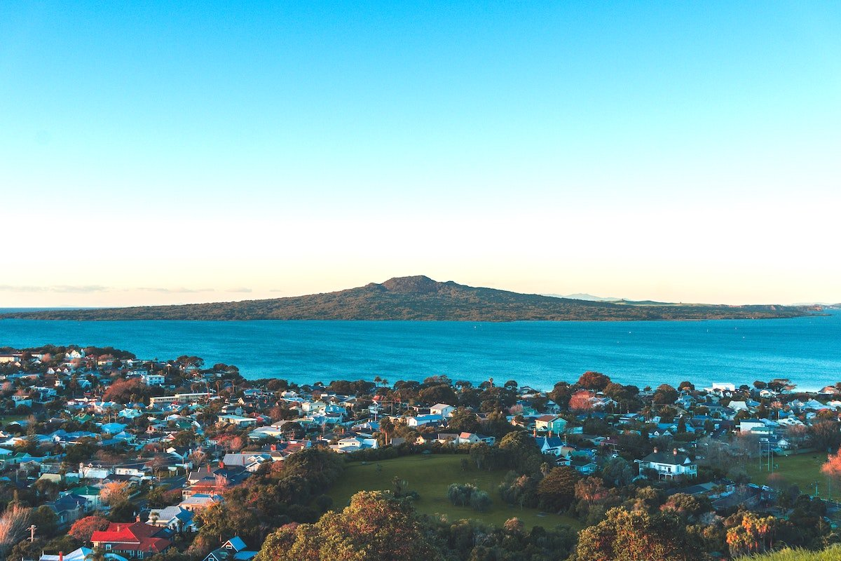 View of Rangitoto volcano from Auckland