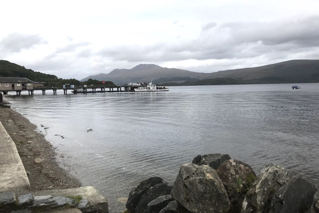 Boat ride on Loch Lomond Scotland. An activity to do on a British road trip