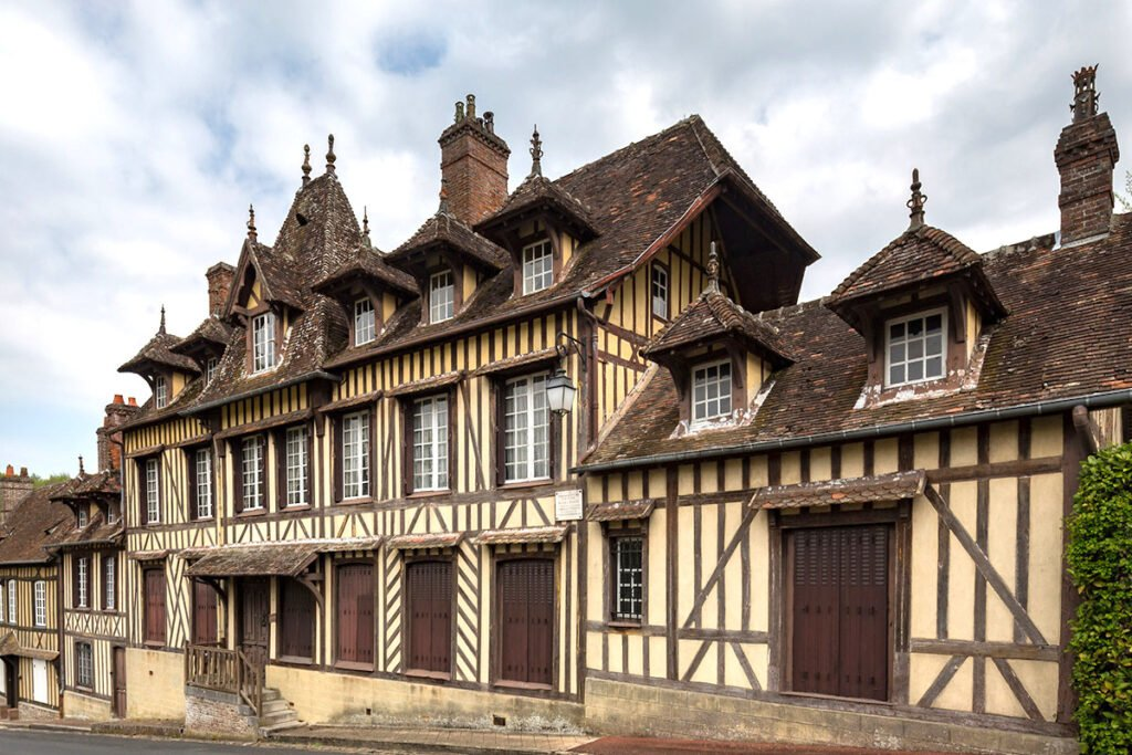 Timber Panelled house in Lyons La Foret, Northern France