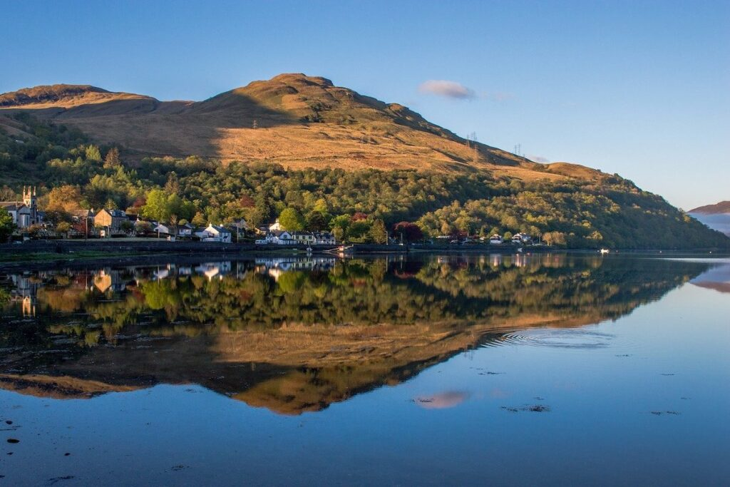 View of Arrochar in Scotland on a British road trip
