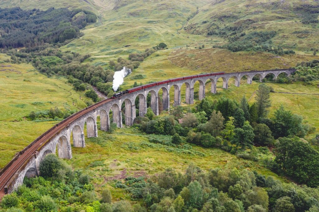 Glenfinnan Viaduct - a popular stop on a British road trip