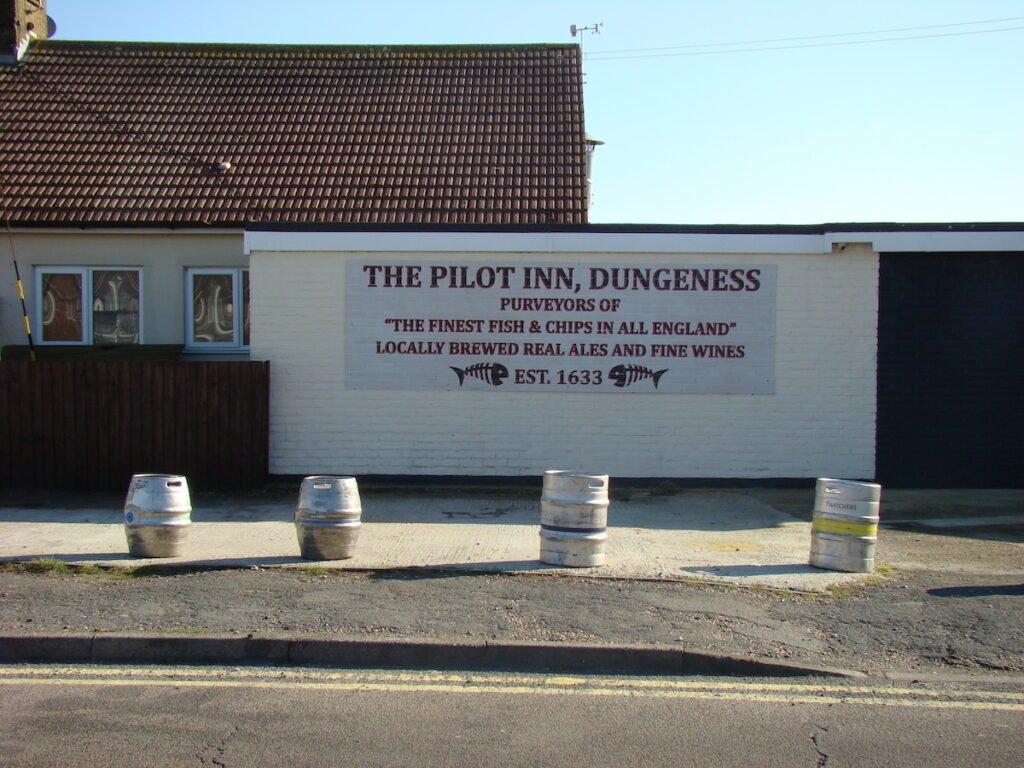 Sign outside the Pilot Inn