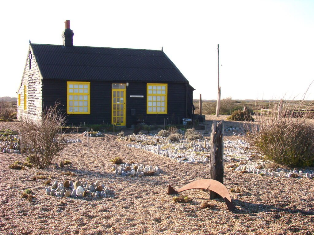 Black and Yellow clapperboard house