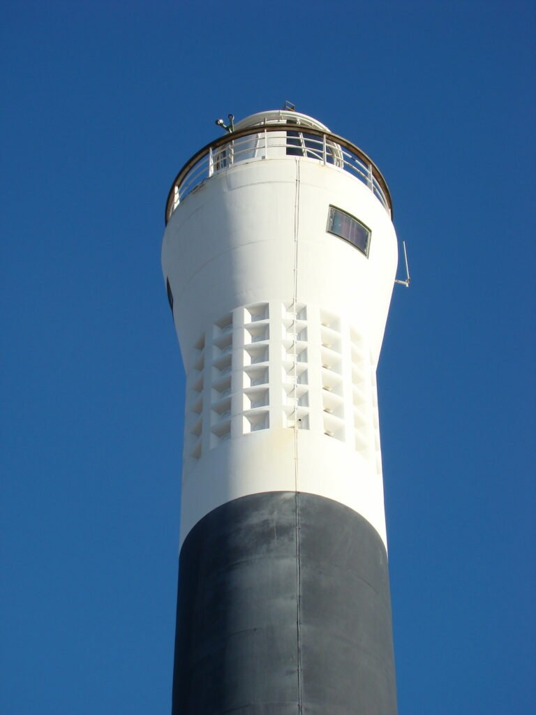 The top of the Dungeness lighthouse