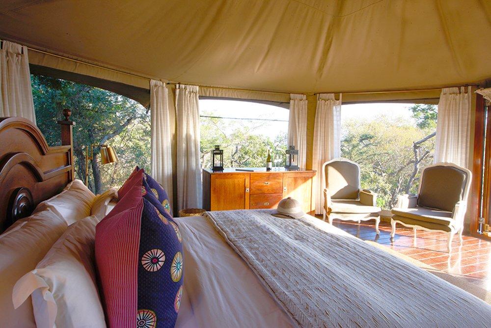 Bedroom at Thanda Luxury Safari