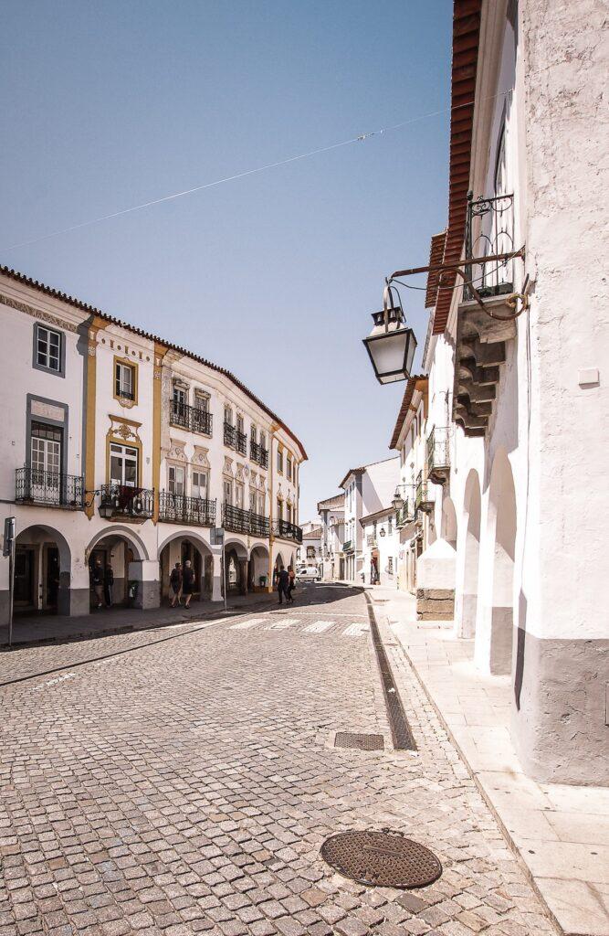 Evora Street Portugal