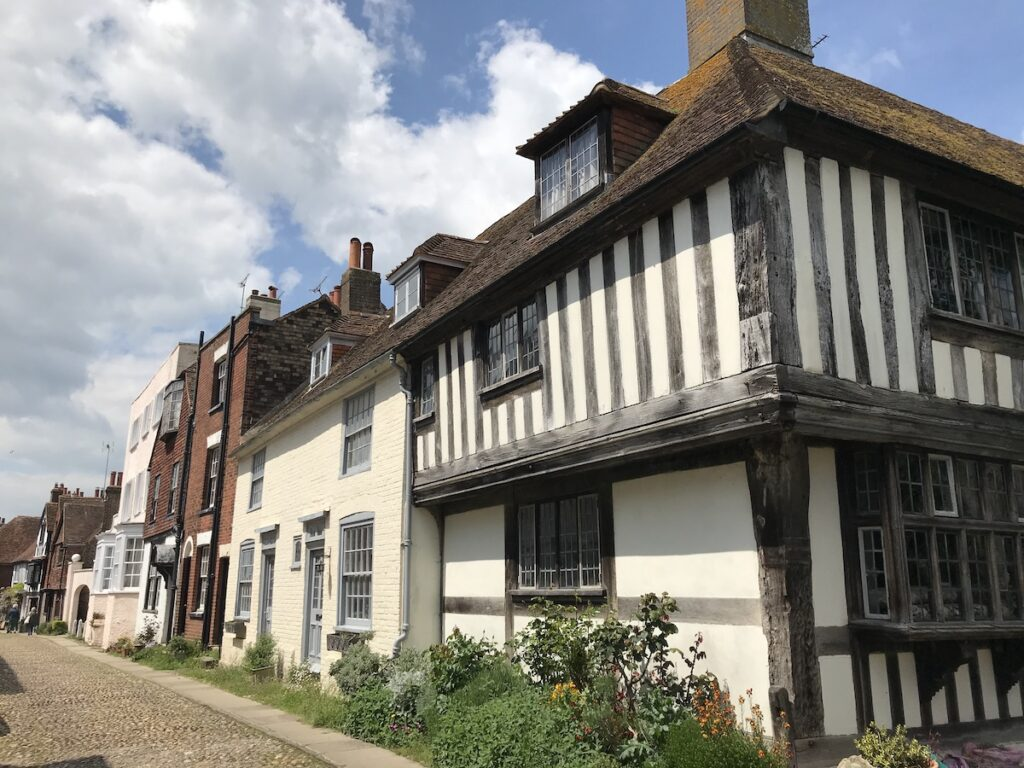 Half -timbered medieval house on the corner of Church Square in Rye