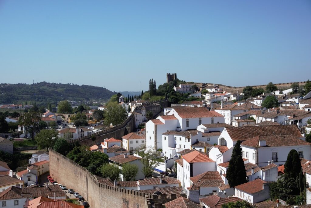 city walls and buildings in Obidos Portugal