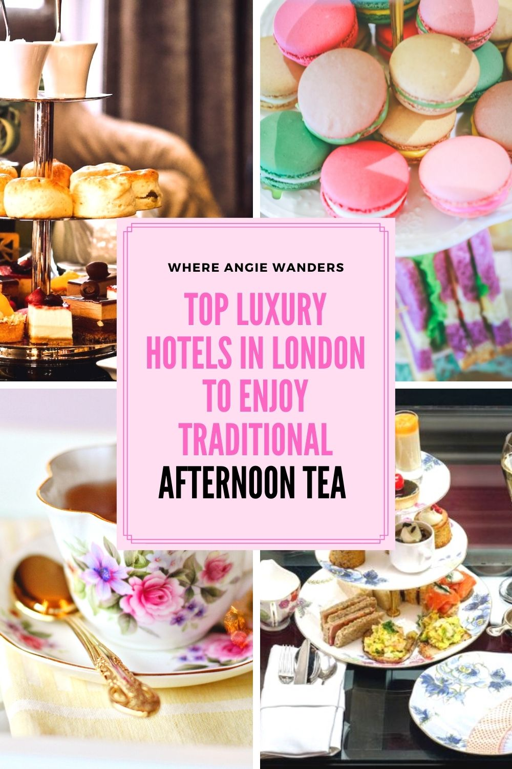 Pinterest Graphic showing Afternoon tea items
