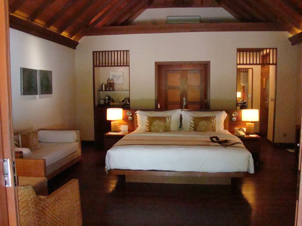 Interior of a Baros Beach Villa