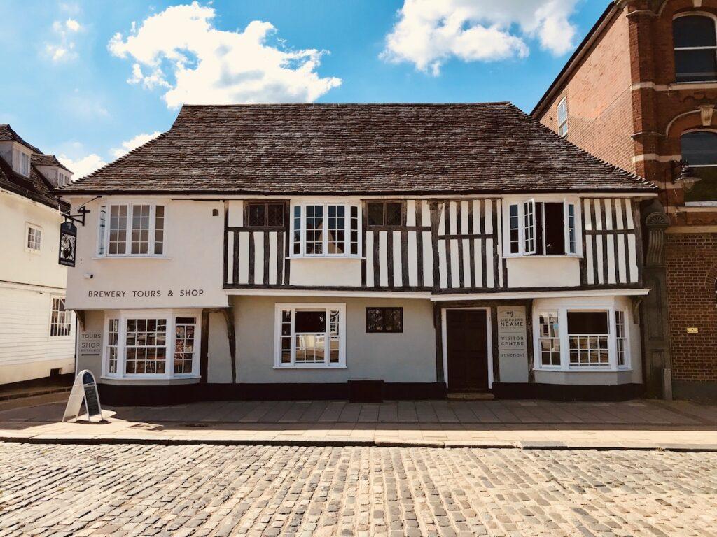 half-timbered building in Faversham