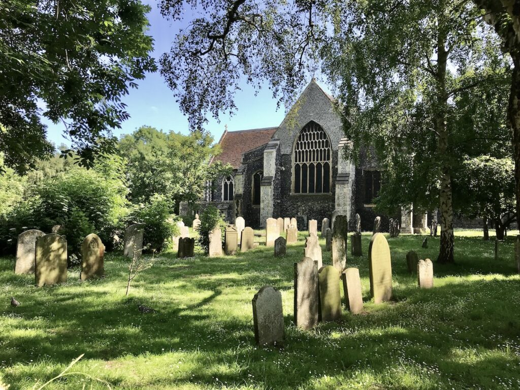 View of St Mary's and graveyard in Faversham