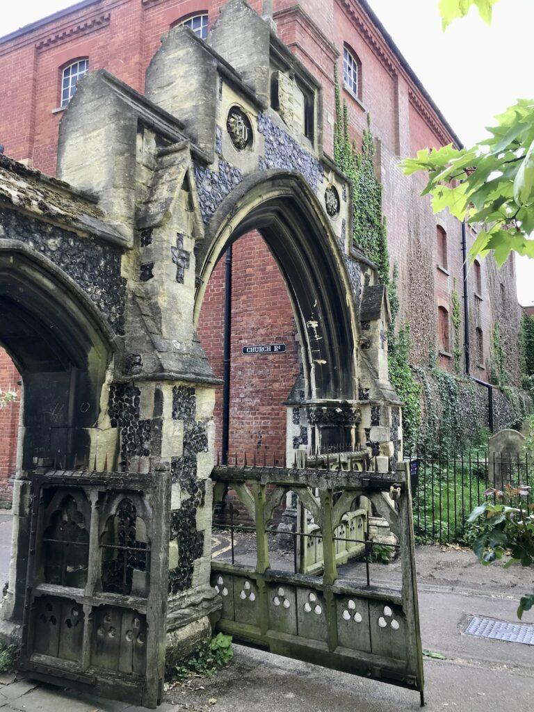 Old church gate at St Mary's Faversham