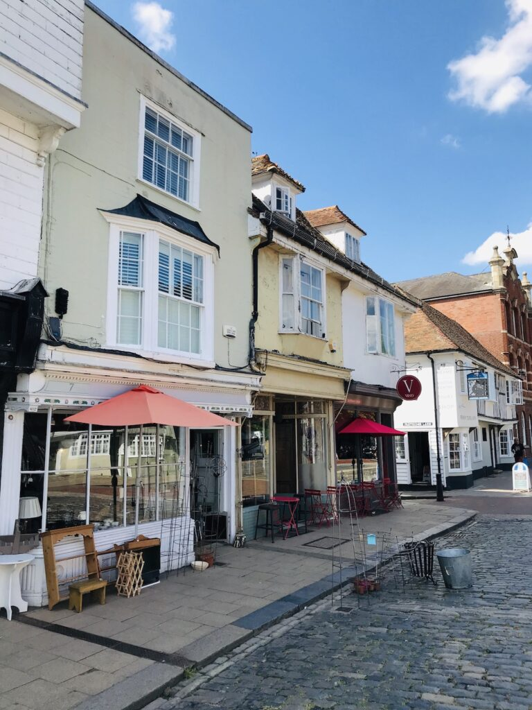 a row of shops in Faversham