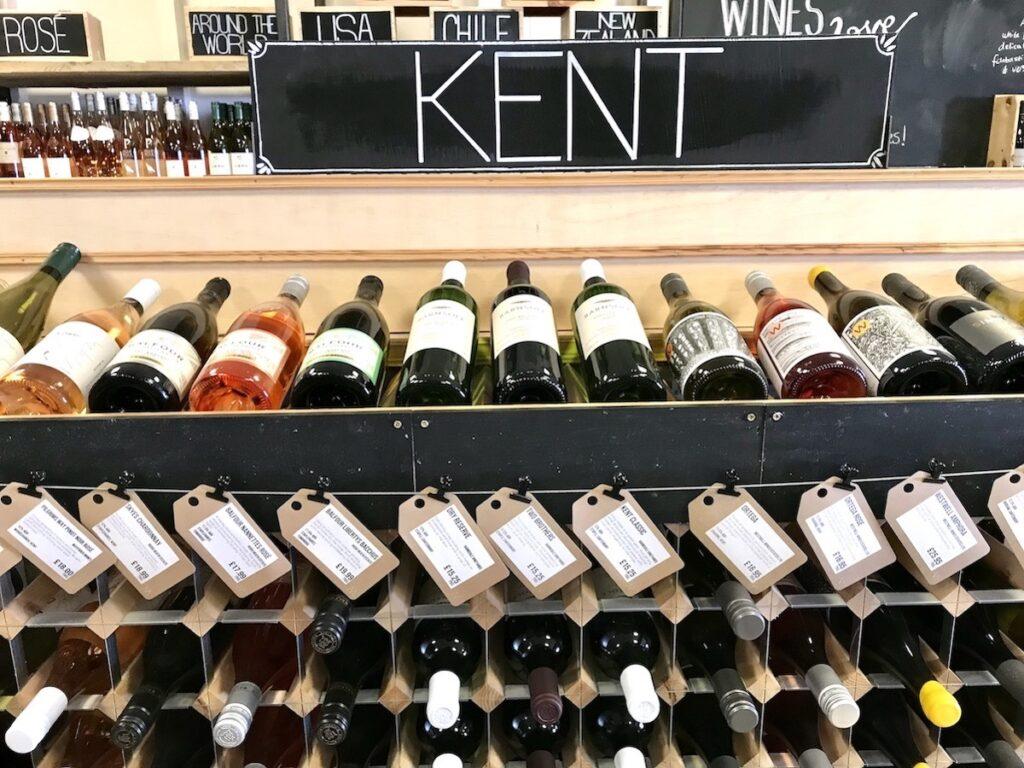 A photo of a shelf full of Kent wines