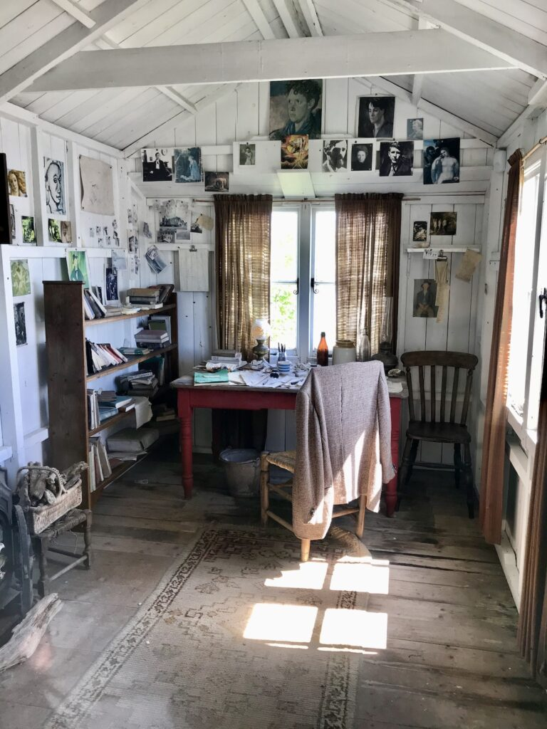 The interior of Dylan Thomas' Writing Shed