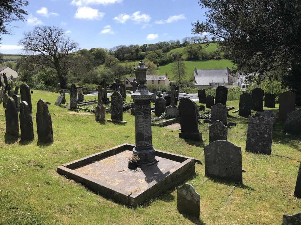 St Mary's Church graveyard Laugharne