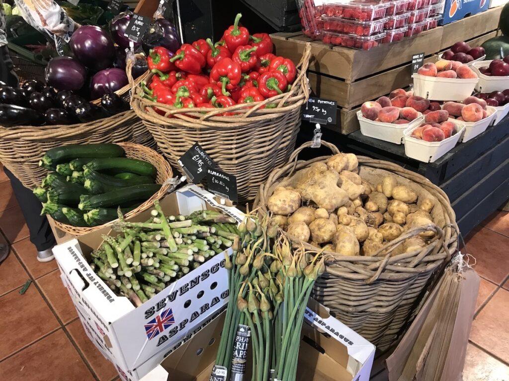 Fresh veg at Macknade Faversham