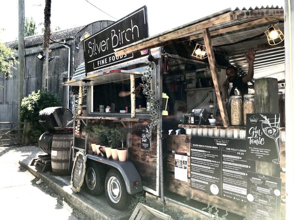 street food truck at Macknade in faversham