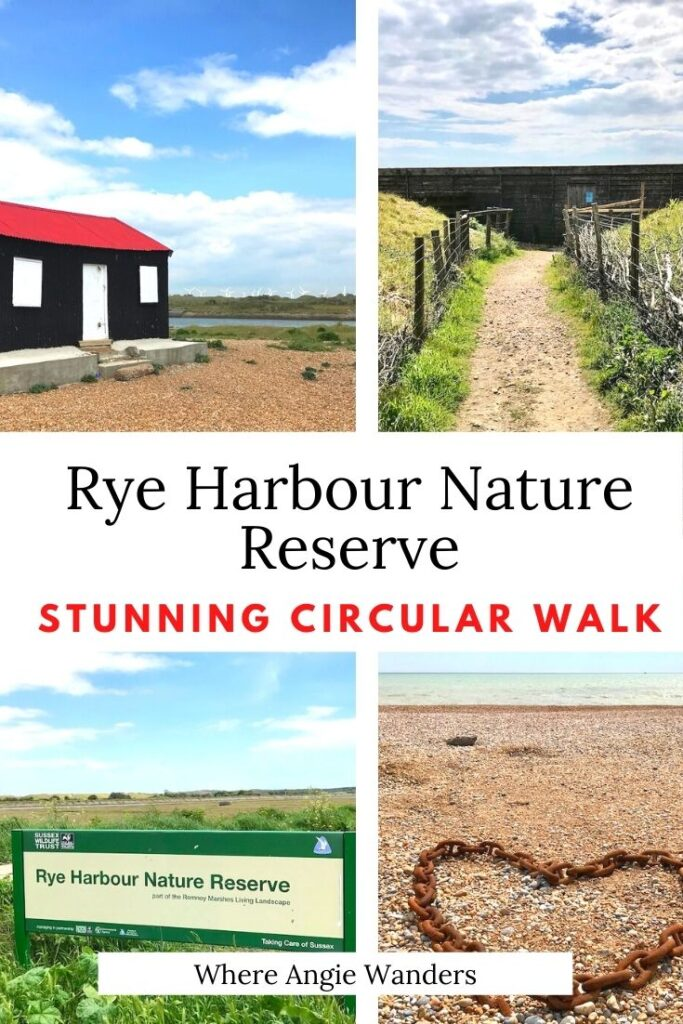 Pinterest Graphic of Rye Harbour Nature Reserve