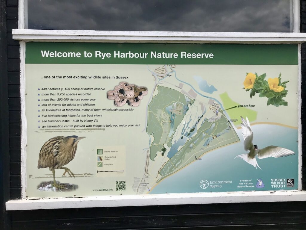 Information Board for Rye Harbour Nature Reserve