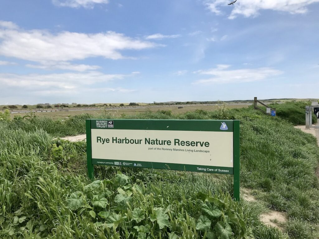 Rye Harbour Nature Reserve Sign