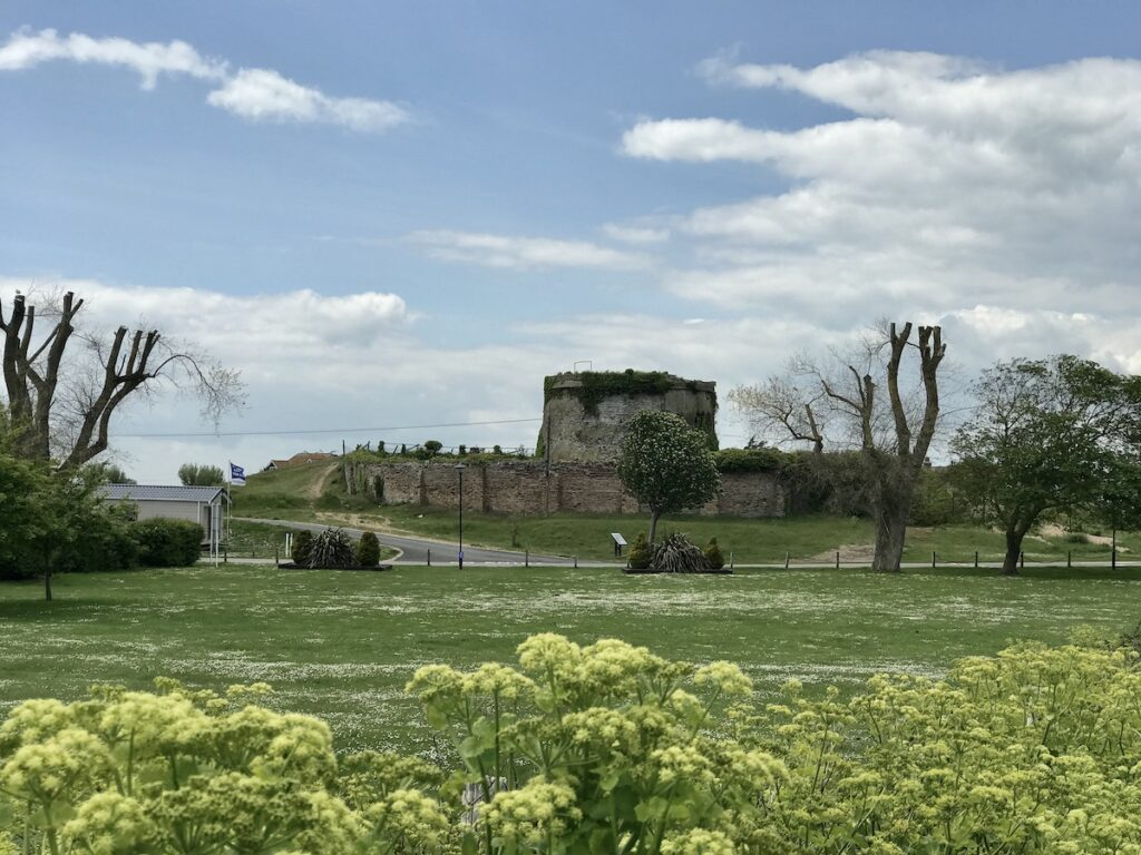 Martello tower in Rye Harbour Nature Reserve