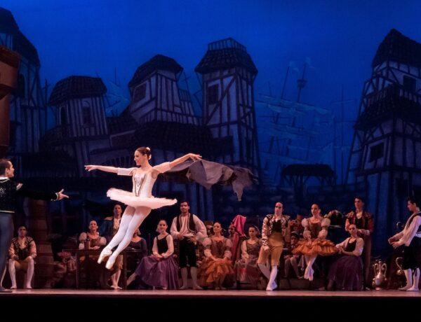 Russian Ballerina in mid jump