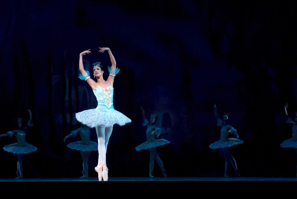 A Ballerina performing Classic Ballet in Russia