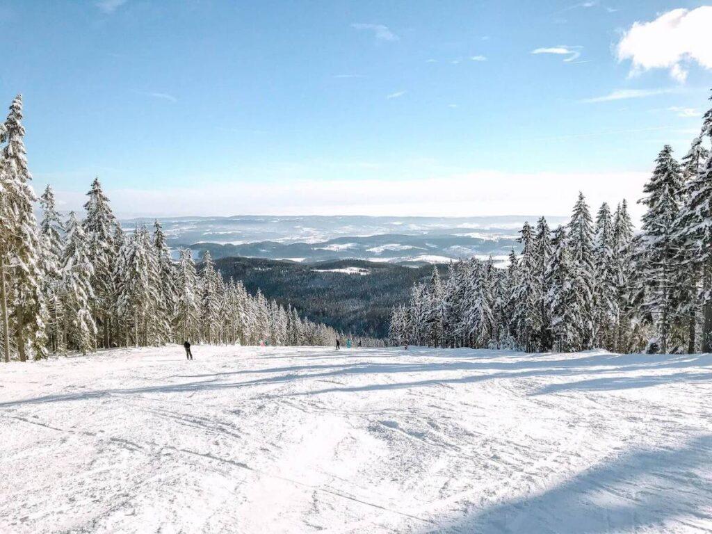 Ski slopes in Janské Láznê. Czech Republic