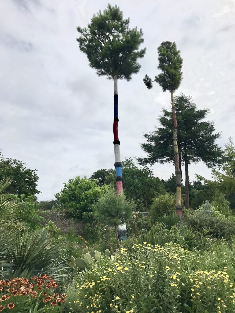 Painted tree in the World Garden