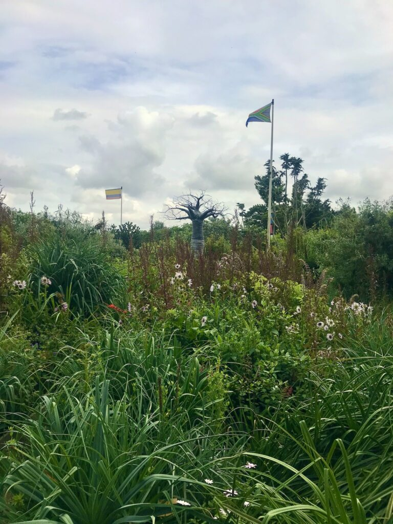 South African Flag in the World Garden