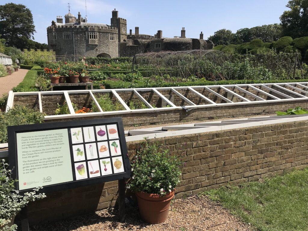 Small greenhouses in Walmer Castle Kitchen Garden