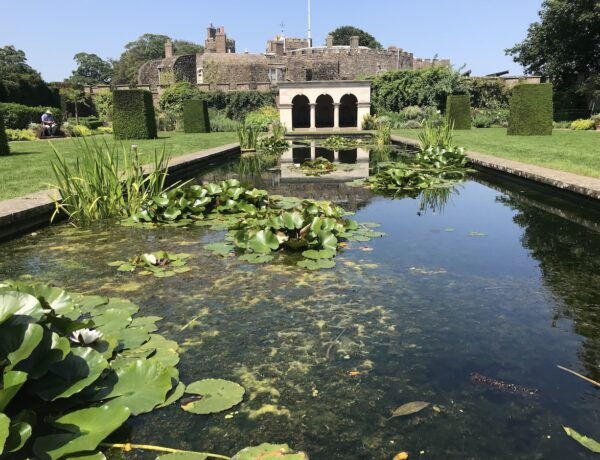 Queen Mother's Garden and pond at Walmer Castle