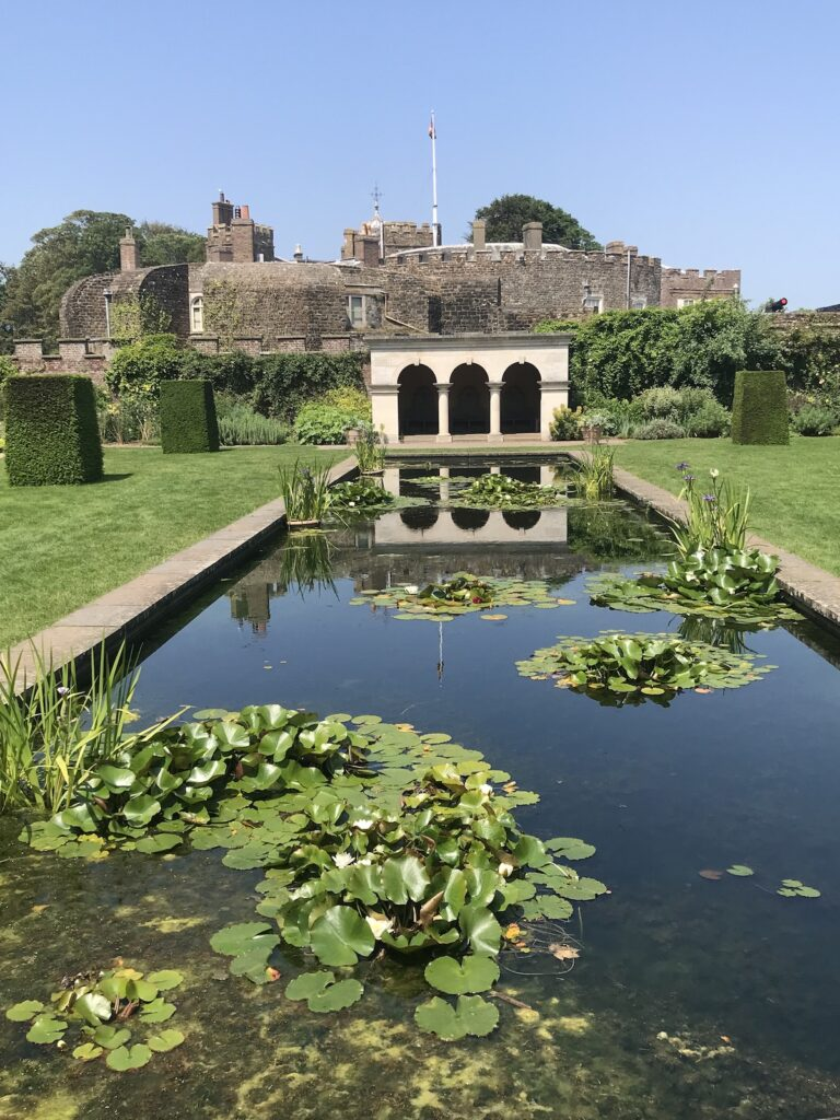 Queen Mothers garden and pond at Walmer Castle