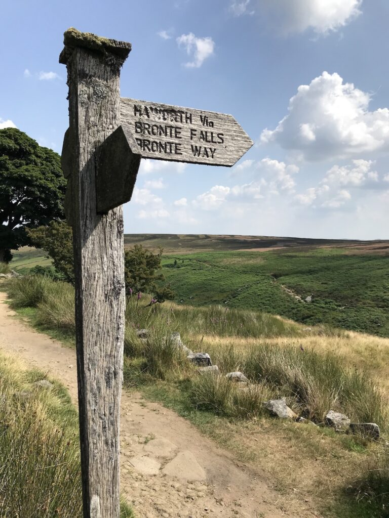 sign post on The Yorkshire Dales