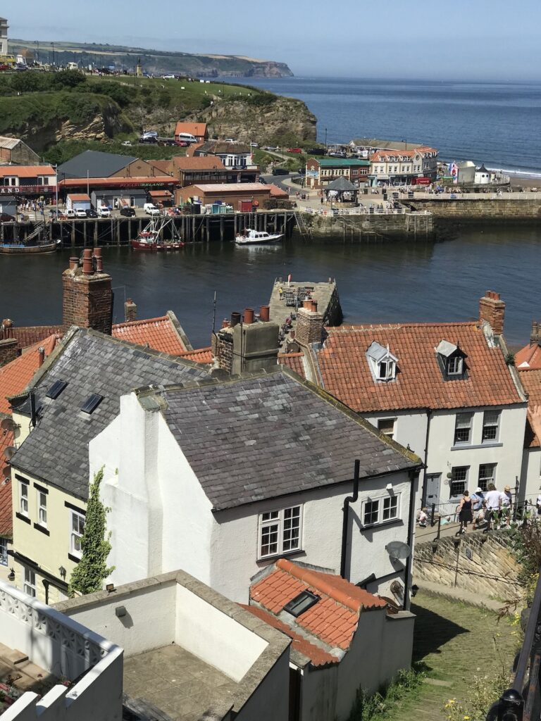 rooftops and harbour in Whitby Yorkshire