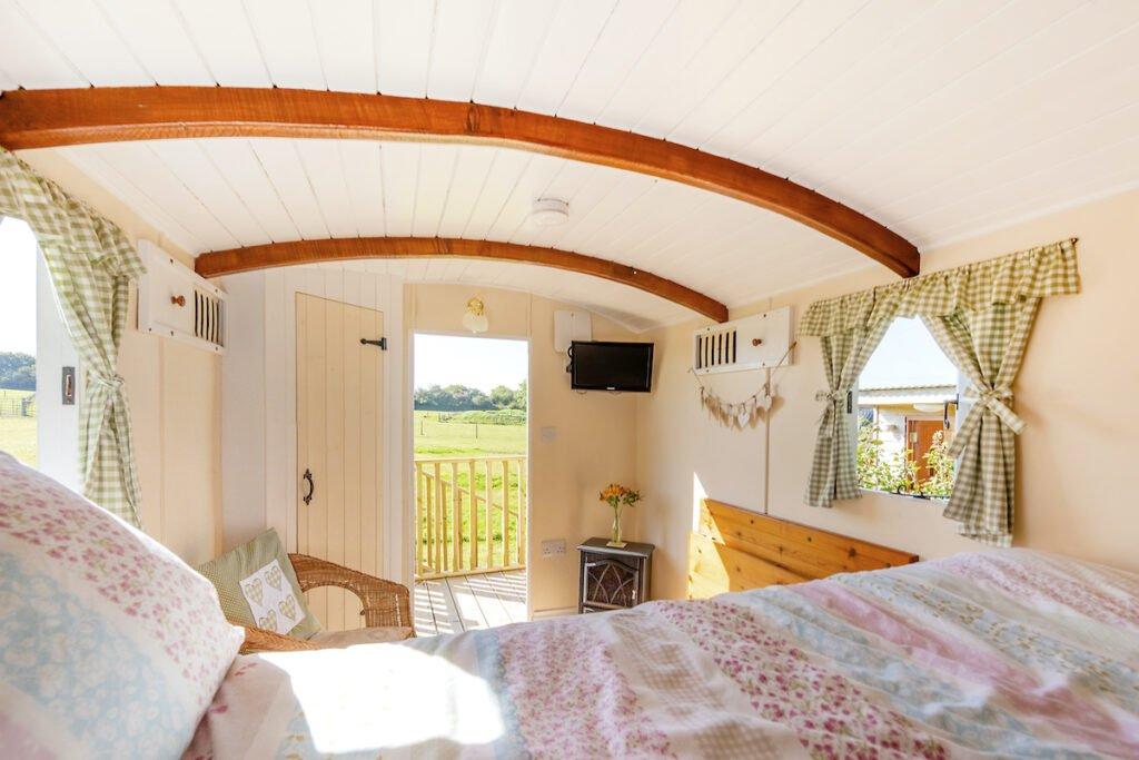 Bedroom in the unique wagon